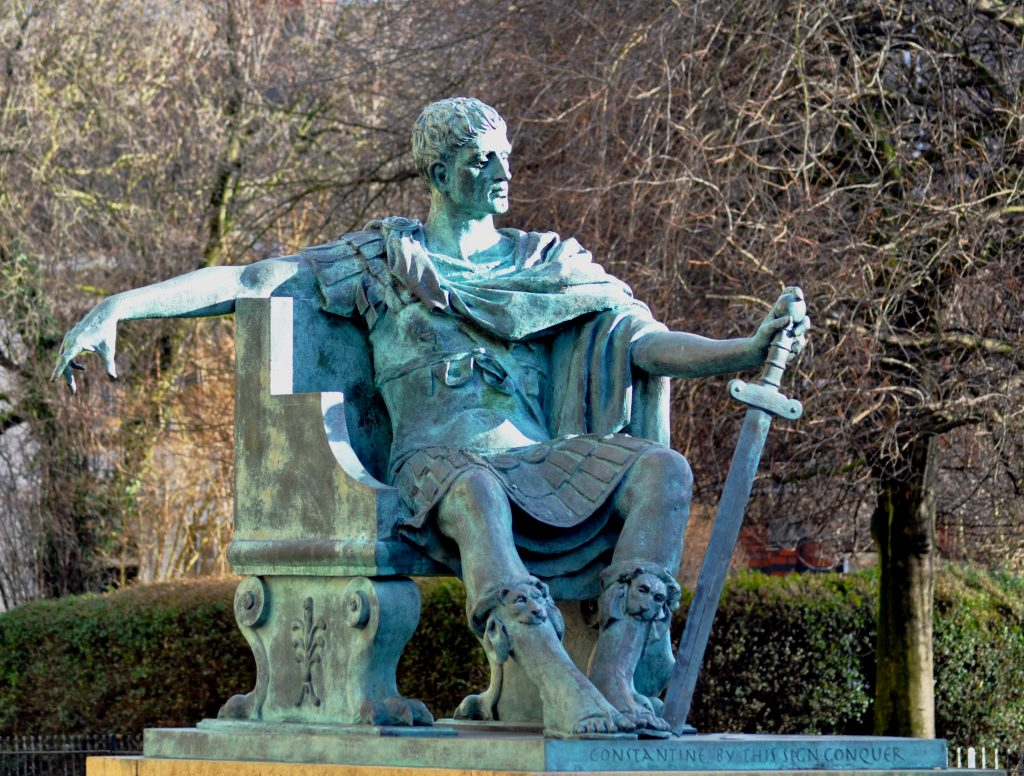 an image of the Constantine Minister statue in York