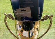 An image of a trophy from the Bingley Show with promotional materials from Taybell