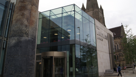 an image of the Laidlaw Library in Leeds