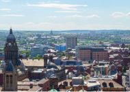 an image of Leeds from the sky