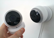 an image of domestic CCTV cameras